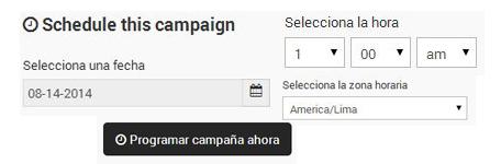 Programación de Campañas.
